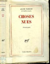 Choses Nues - Couverture - Format classique
