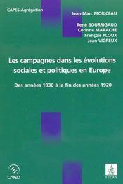 Les Campagnes Dans Les Evolutions Sociales Et Politiques En Europe - Intérieur - Format classique