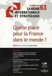 Quelle place pour la France dans le monde ? - Intérieur - Format classique