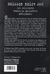 Moisson noire 2003 - 4ème de couverture - Format classique