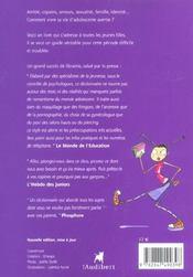 Du Cote Des Filles Dico Des Adolescentes (2e édition) - 4ème de couverture - Format classique