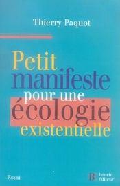 Petit manifeste pour une écologie existentielle - Intérieur - Format classique