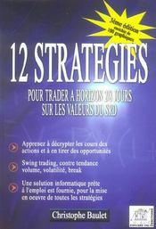 12 strategies pour trader a horizon 2/8 jours sur les valeurs du srd - Intérieur - Format classique