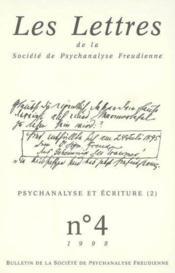 Revue Les Lettres De La Spf N 4 1998 - Psychanalyse Ecriture 2 - Couverture - Format classique