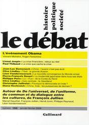 Revue Le Débat N.153 - Couverture - Format classique