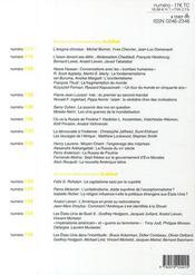Revue Le Débat N.153 - 4ème de couverture - Format classique