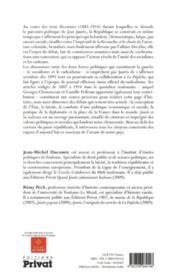 Jaurès et les radicaux - 4ème de couverture - Format classique