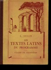 Les Textes Latins De Programme - Classe Troisieme - Couverture - Format classique
