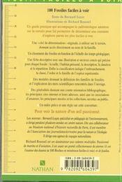 100 Fossiles Faciles A Voir - 4ème de couverture - Format classique
