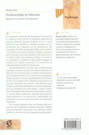 Psychosociologie de l'education - regard sur les situations d'enseignement - Couverture - Format classique
