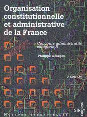 Organisation Constitutionnelle Et Administa - Intérieur - Format classique