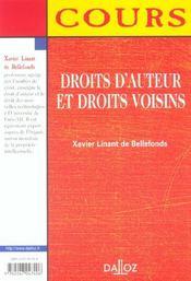 Droits D'Auteur Et Droits Voisins - 4ème de couverture - Format classique