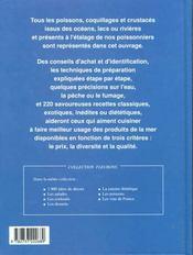 Poissons ; techniques et saveurs - 4ème de couverture - Format classique