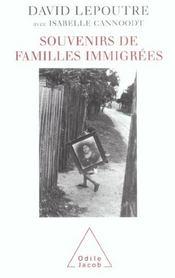 Souvenirs de familles immigrees - Intérieur - Format classique