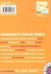 Vignobles et vins de france - 4ème de couverture - Format classique