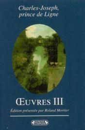Charles-joseph, prince de ligne. vol 3 - Couverture - Format classique