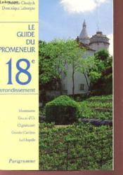 Guide promeneur 18e arrondis - Couverture - Format classique