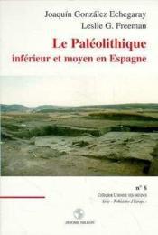 Le Paleolithique Inferieur Et Moyen En Espagne - Couverture - Format classique