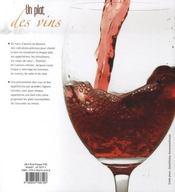 Un plat, des vins - 4ème de couverture - Format classique