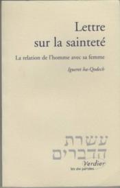 Lettre sur la saintete ou la relation de l'homme avec sa femme - Couverture - Format classique