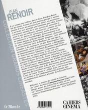 Jean Renoir - 4ème de couverture - Format classique