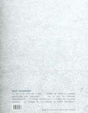 Matieres - n 4 - 2001 - banal, monumental - 4ème de couverture - Format classique