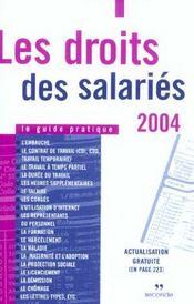 Les droits des salaries (édition 2004) - Intérieur - Format classique