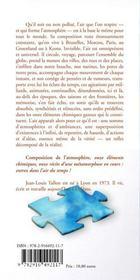 Composition de l'atmosphère - 4ème de couverture - Format classique