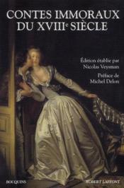 Contes immoraux du XVIII siècle - Couverture - Format classique