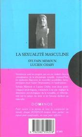 La Sexualite Masculine - 4ème de couverture - Format classique