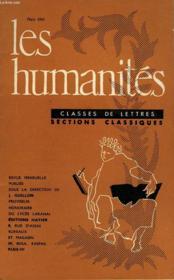Les Humanites - Classe De Lettres - Mars 1961 - Couverture - Format classique