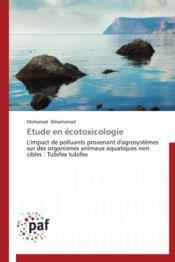 Étude en écotoxicologie - Couverture - Format classique