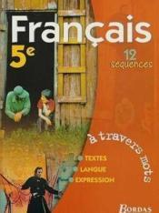 Francais 5e Eleve 2001 - Couverture - Format classique