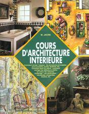 Cours D'Architecture Interieure - Intérieur - Format classique