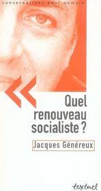 Quel renouveau socialiste ? - Intérieur - Format classique