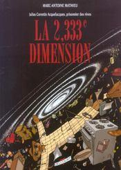 Julius Corentin Acquefacques t.5 ; la 2,333e dimension - Intérieur - Format classique