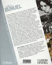 Luis Buñuel - 4ème de couverture - Format classique