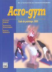 Acro-gym ; code de pointage 2000 - Intérieur - Format classique