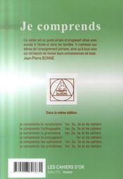 Je Comprends Les Opérations ; Cahier N.2 ; Ce2 - 4ème de couverture - Format classique