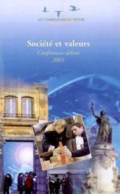Societe Et Valeurs - Couverture - Format classique