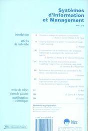 Systèmes d'information et management - 4ème de couverture - Format classique