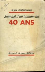 Journal D Un Homme De 40 Ans. - Couverture - Format classique