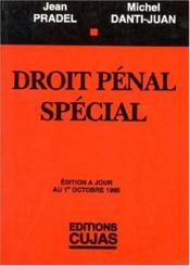 Droit Penal Special - Couverture - Format classique