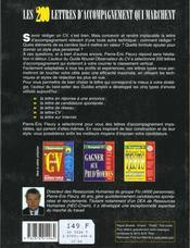 200 Lettres D'Accompagnement Qui Marchent - 4ème de couverture - Format classique
