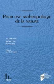 Pour une anthropologie historique de la nature - Couverture - Format classique