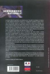 Gendarmerie nationale : les soldats de la loi - 4ème de couverture - Format classique