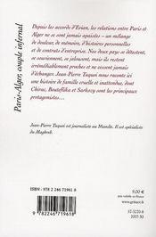 Paris-Alger, couple infernal - 4ème de couverture - Format classique