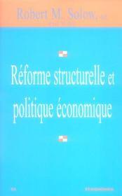 Reforme structurelle et politique economique - Intérieur - Format classique