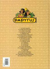 Papyrus t.1 ; la momie engloutie - 4ème de couverture - Format classique