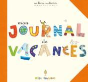 Mon journal de vacances ; un livre-activités - Couverture - Format classique